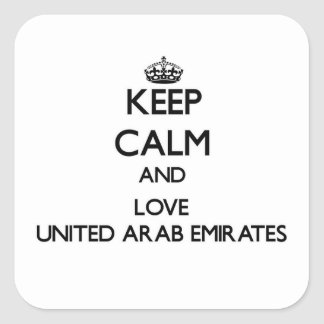 Keep Calm and Love United Arab Emirates Stickers