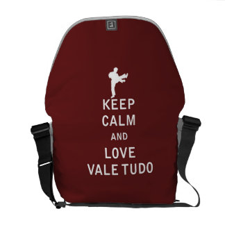 Keep Calm and Love Vale Tudo Courier Bags
