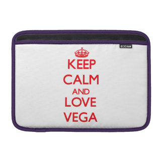 Keep calm and love Vega Sleeve For MacBook Air