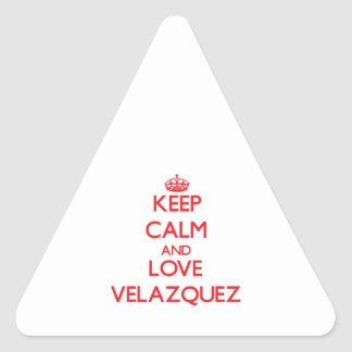 Keep calm and love Velazquez Stickers