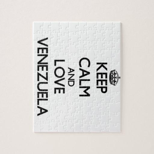 Keep Calm and Love Venezuela Puzzles