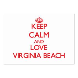 Keep Calm and Love Virginia Beach Business Card