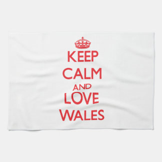 Keep Calm and Love Wales Towels