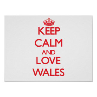 Keep Calm and Love Wales Poster