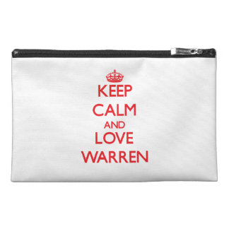 Keep calm and love Warren Travel Accessory Bags