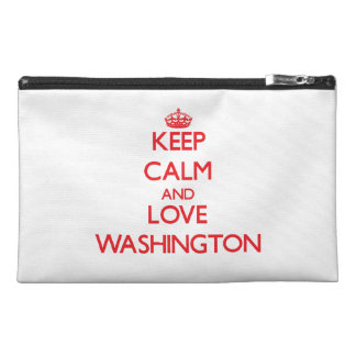 Keep Calm and Love Washington Travel Accessory Bags
