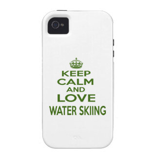 Keep Calm And Love Water Skiing iPhone 4/4S Cover
