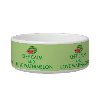 Keep Calm and Love Watermelon Customizable Gift Bowl