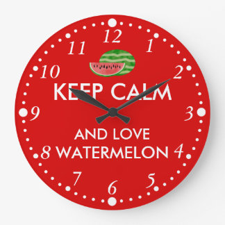 Keep Calm and Love Watermelon Customizable Gift Large Clock