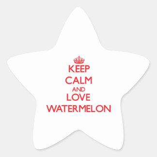 Keep calm and love Watermelon Star Sticker
