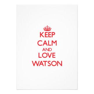 Keep calm and love Watson Custom Invitations