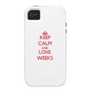 Keep calm and love Weeks Vibe iPhone 4 Cases