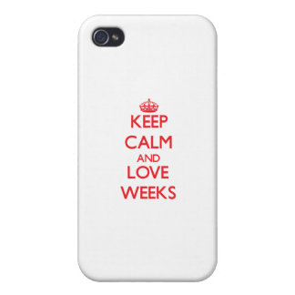 Keep calm and love Weeks iPhone 4/4S Covers