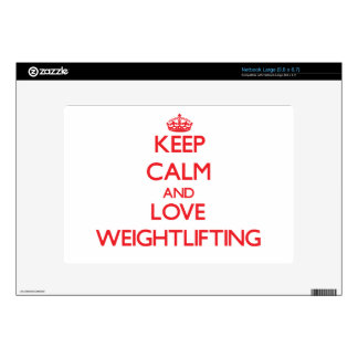 Keep calm and love Weightlifting Decal For Large Netbook