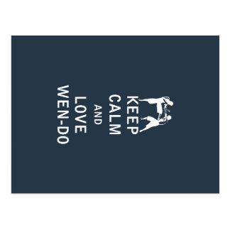 Keep Calm and Love Wen-Do Postcard