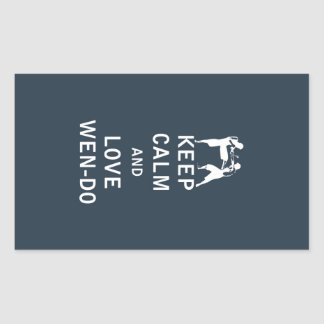 Keep Calm and Love Wen-Do Rectangular Sticker