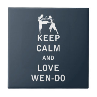 Keep Calm and Love Wen-Do Small Square Tile