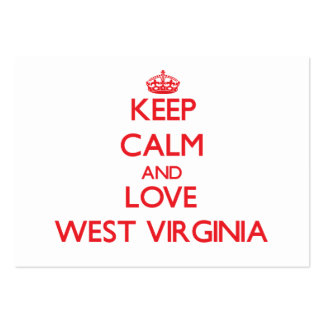 Keep Calm and Love West Virginia Business Cards