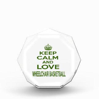 Keep Calm And Love Wheelchair Basketball Awards