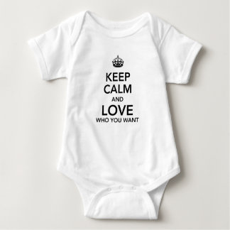 Keep calm and love who you want baby bodysuit