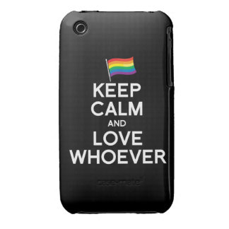 KEEP CALM AND LOVE WHOEVER iPhone 3 COVERS