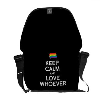 KEEP CALM AND LOVE WHOEVER COURIER BAG