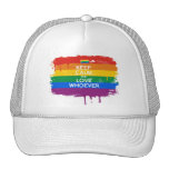 KEEP CALM AND LOVE WHOEVER MESH HATS