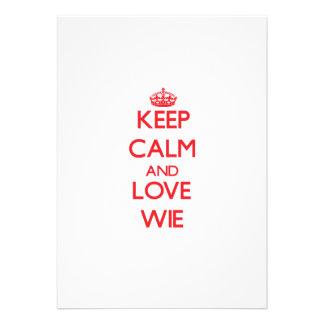Keep calm and love Wie Custom Invite