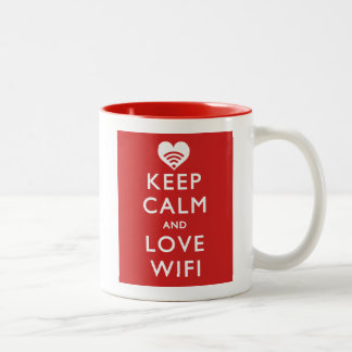 Keep Calm And Love WiFi Two-Tone Coffee Mug