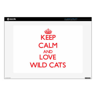 """Keep calm and love Wild Cats 15"""" Laptop Skin"""