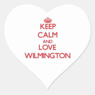 Keep Calm and Love Wilmington Heart Sticker