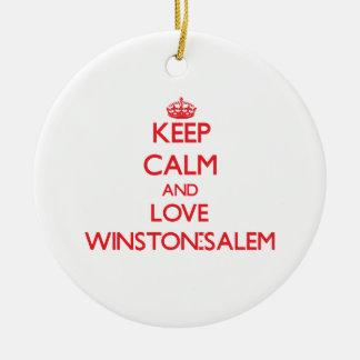 Keep Calm and Love Winston-Salem Christmas Tree Ornament