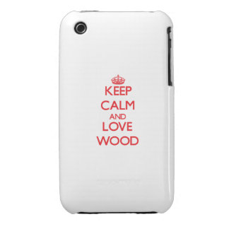 Keep calm and love Wood Case-Mate iPhone 3 Cases