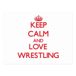 Keep calm and love Wrestling Postcard