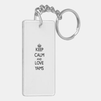 Keep calm and love Yams Keychain