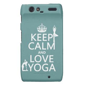 Keep Calm and Love Yoga (customizable colors) Droid RAZR Case