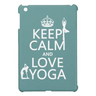 Keep Calm and Love Yoga (customizable colors) Case For The iPad Mini