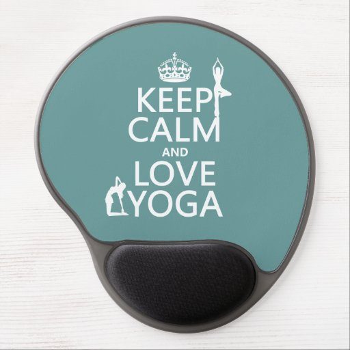 Keep Calm and Love Yoga (customizable colors) Gel Mouse Pad