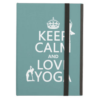 Keep Calm and Love Yoga (customizable colors) iPad Air Case