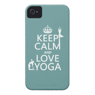 Keep Calm and Love Yoga (customizable colors) iPhone 4 Case