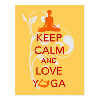 Keep Calm and Love Yoga - unique fun design Post Card