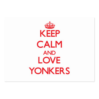 Keep Calm and Love Yonkers Business Card