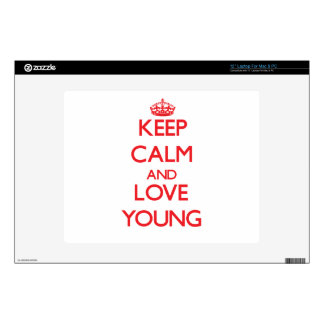 Keep calm and love Young Skins For Laptops