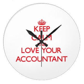 Keep Calm and Love your Accountant Clocks