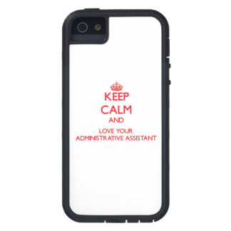 Keep Calm and Love your Administrative Assistant iPhone 5 Case