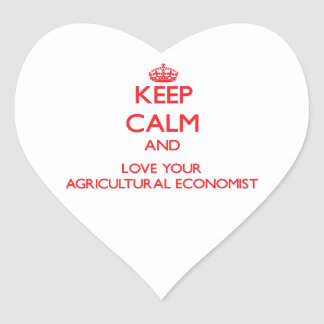 Keep Calm and Love your Agricultural Economist Sticker