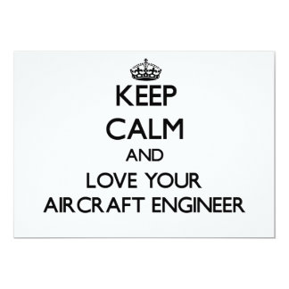 Keep Calm and Love your Aircraft Engineer 5x7 Paper Invitation Card