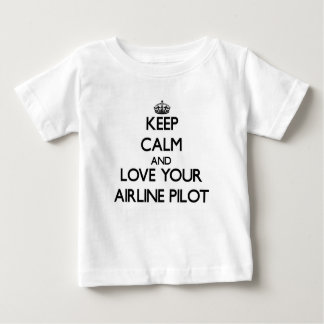 Keep Calm and Love your Airline Pilot Tshirts
