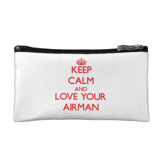 Keep Calm and Love your Airman Cosmetics Bags