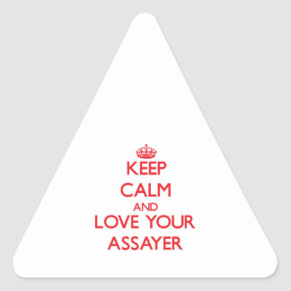 Keep Calm and Love your Assayer Triangle Sticker